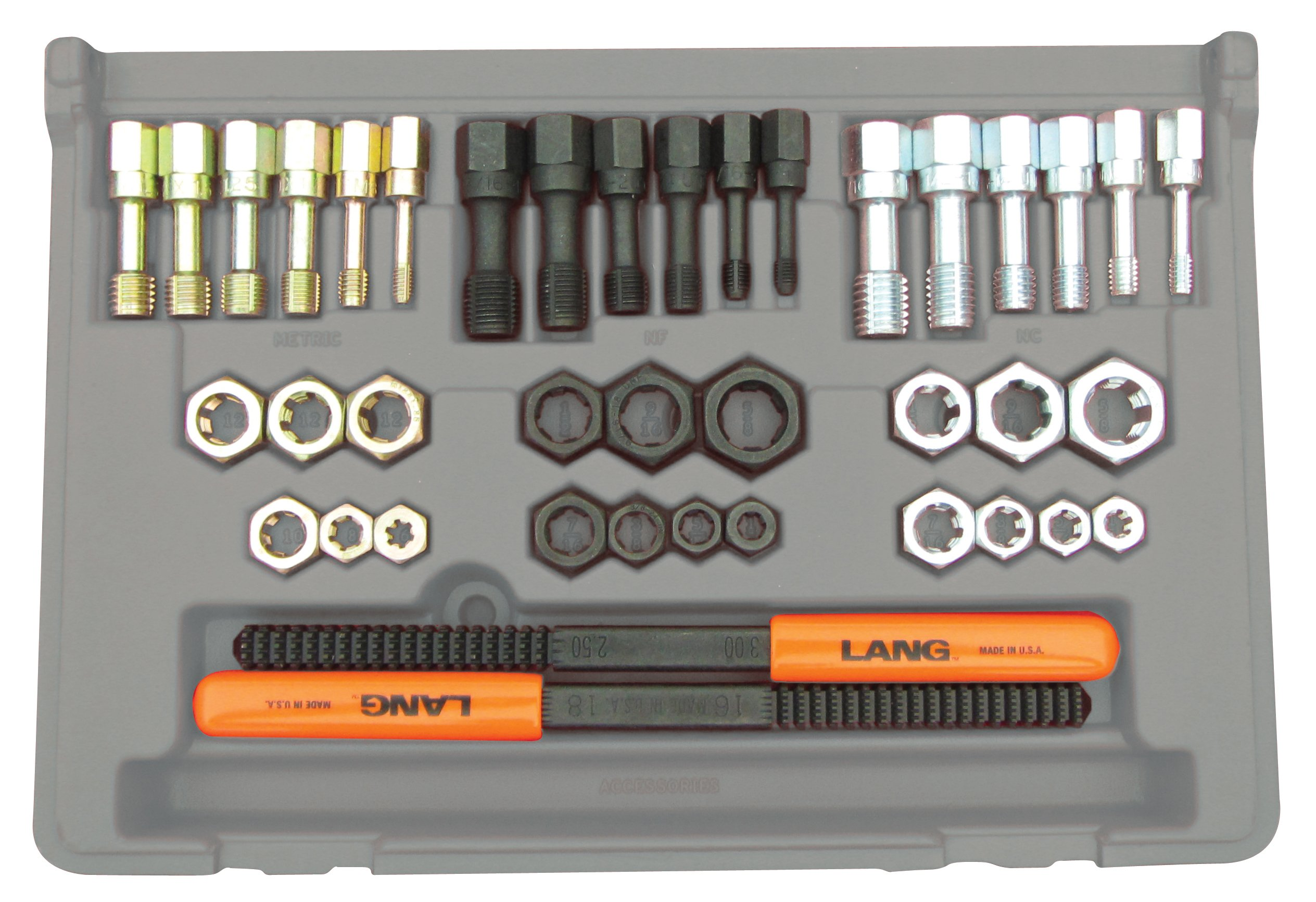 Lang  972 40 Piece Fractional and Metric Thread Restorer Kit by Lang