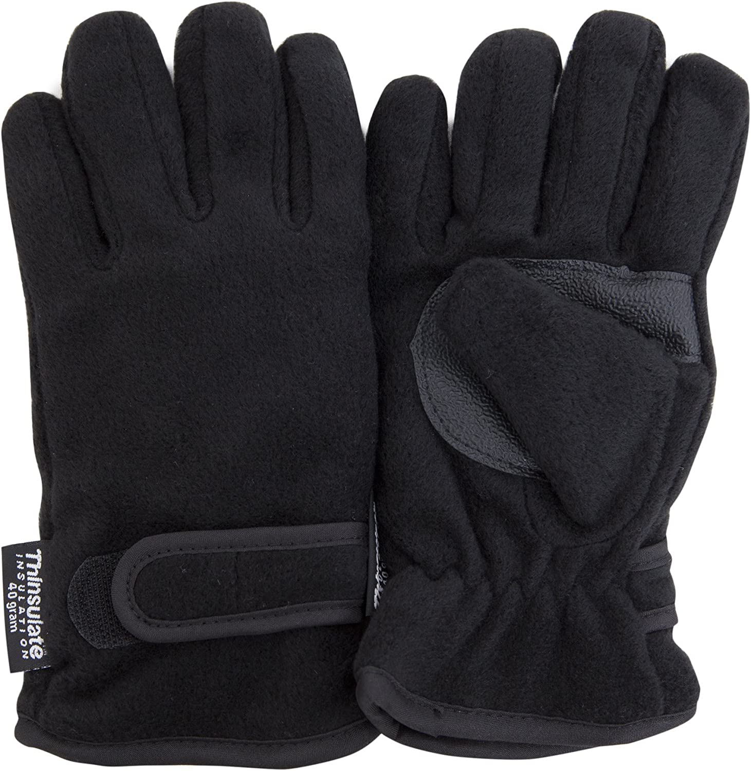 Kids Fleece 40gram Thinsulate Lined Winter Thermal Gloves with Palm Grip