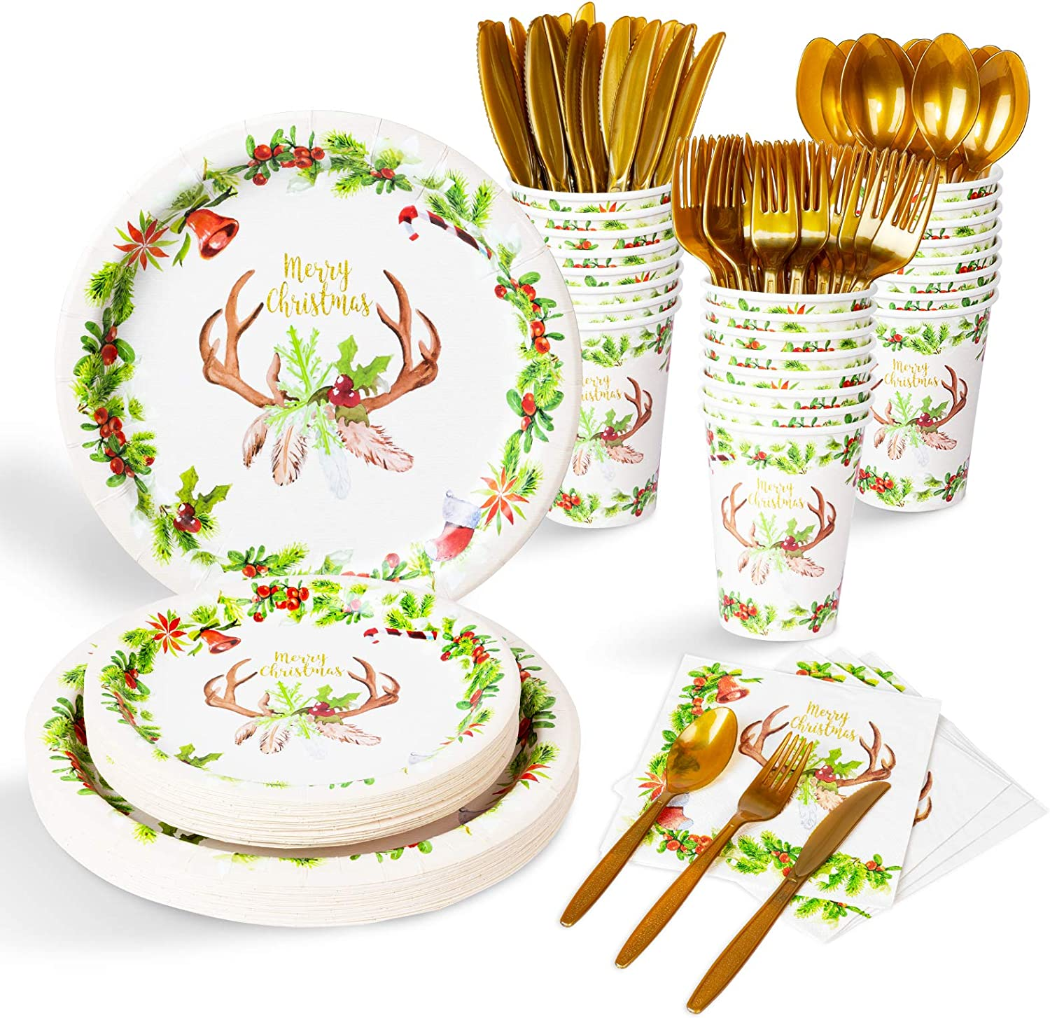 Holiday Party Plates 9 Holly Party Plates Christmas Tableware