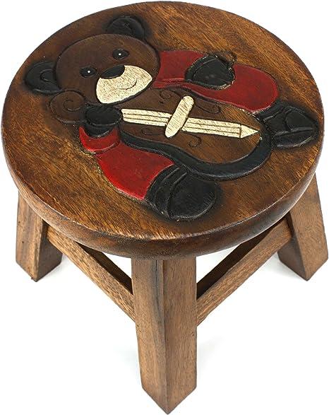 bagno Utoplike Sgabello in legno piccolo per bambini portatile in bamb/ù resistente leggero e antiscivolo piccolo sgabello da cucina camera da letto