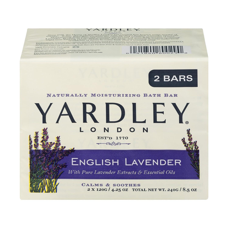 English Lavender Bar Soap by Yardley - 2 x 4.25 oz Soap