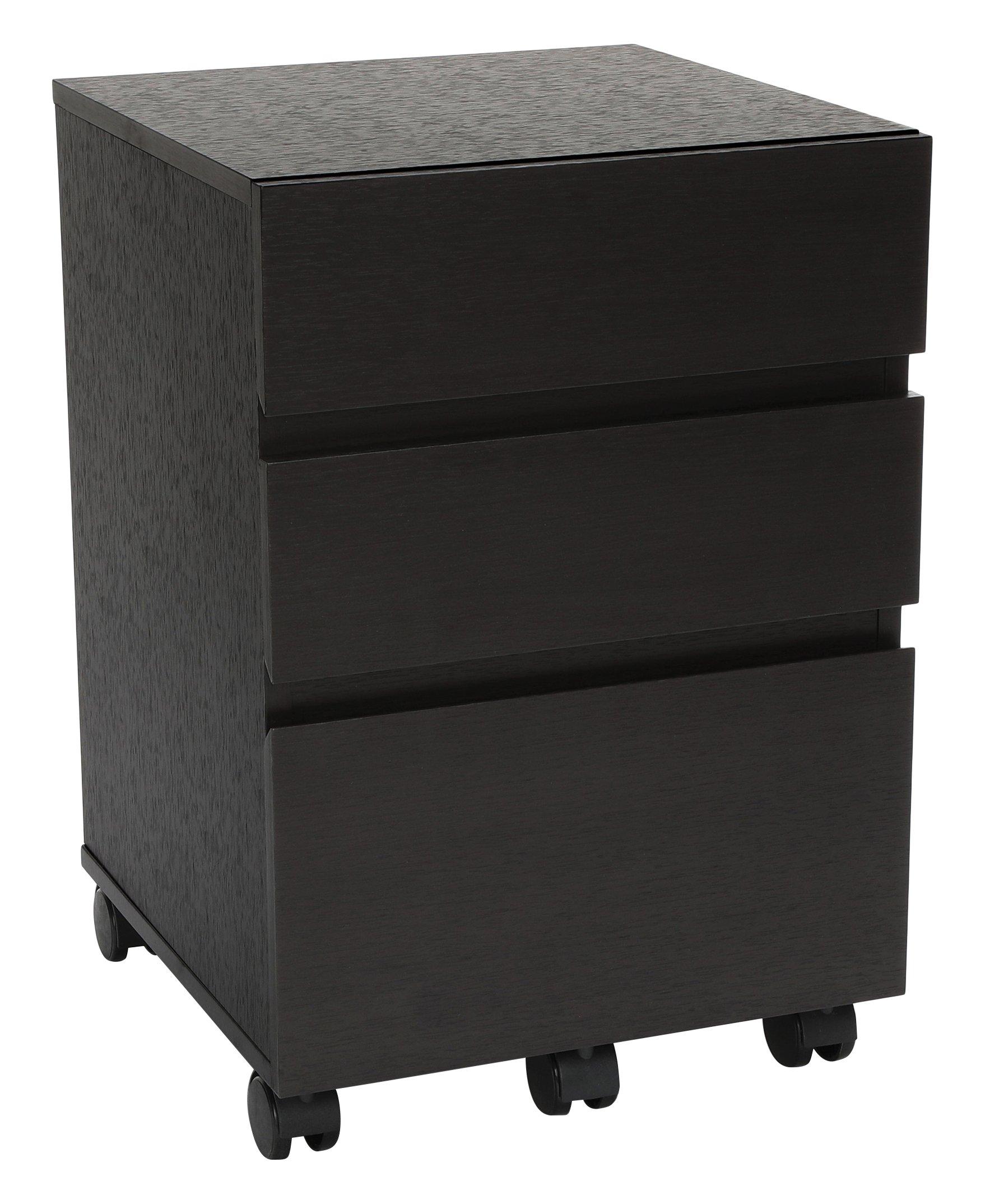Essentials File Cabinet - 3-Drawer Wheeled Mobile Pedestal Cabinet, Espresso (ESS-1030-ESP) by OFM (Image #2)