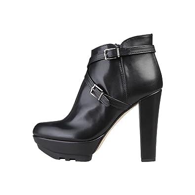 19V69 Negro 41 Solange Zapatos EU Abotinados 6FBn6wxqS