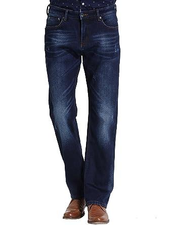 5b23a29a7fea SSLR Herren Jeans Hose Basic Stretch Denim Straight Leg Regular Fit Fleece  gefüttert Jeanshose Freizeithose Pants
