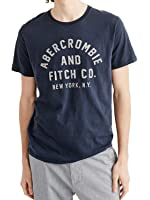 (アバクロンビー&フィッチ) アバクロ メンズ 半袖 Tシャツ [ネイビー/ロゴアップリケ] 並行輸入品