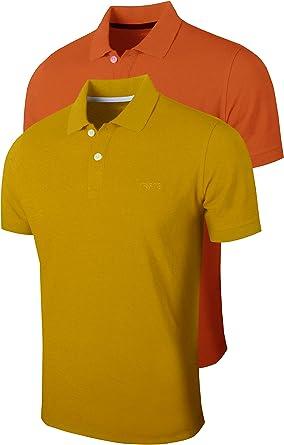 FULL TIME SPORTS® 2 Paquetes de Polos de Manga Corta para Hombre, cómoda Camiseta de Golf y Tenis: Amazon.es: Ropa y accesorios