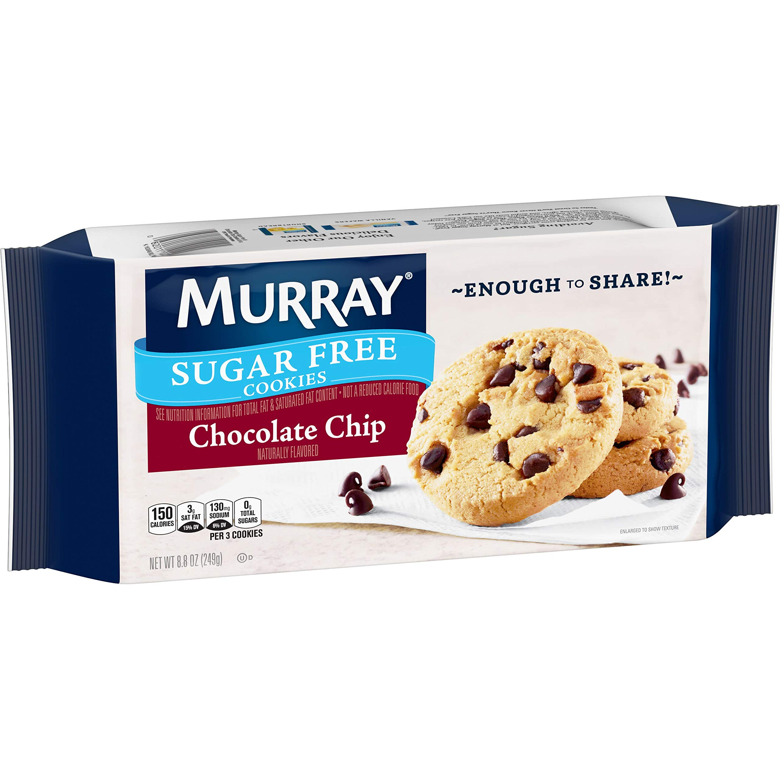 Murray Sugar Free Cookies, Chocolate Chip, 8.8 oz Tray(Pack of 12) by Murray