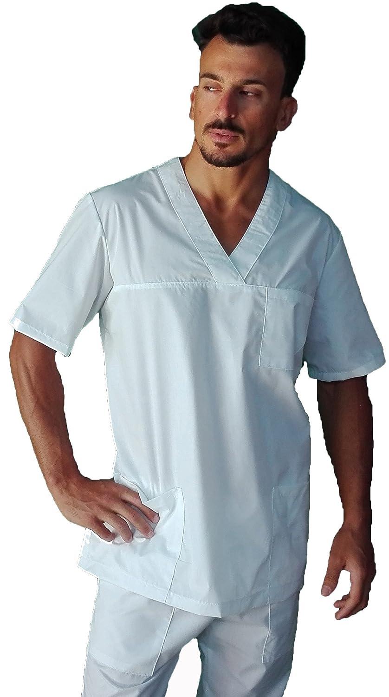 tessile astorino casacca ospedaliera per studenti, infermieri, oss, scollo a V, unisex, Made in Italy