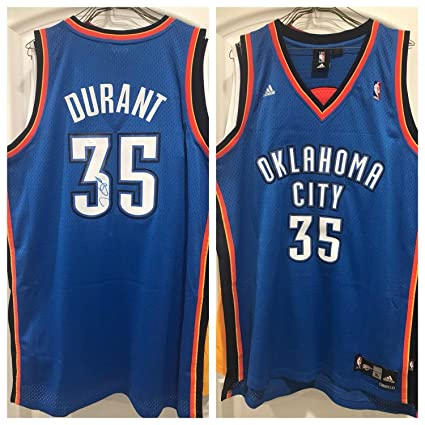 buy online f7481 6839e Kevin Durant Autographed Signed Memorabilia Okc Thunder ...