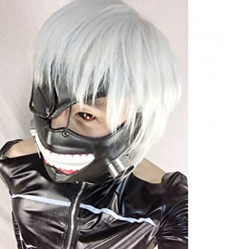 LAIE Cosplay Tokyo Ghoul Kaneki Ken cremallera ajustable M¨¢scaras PU cuero fresco de
