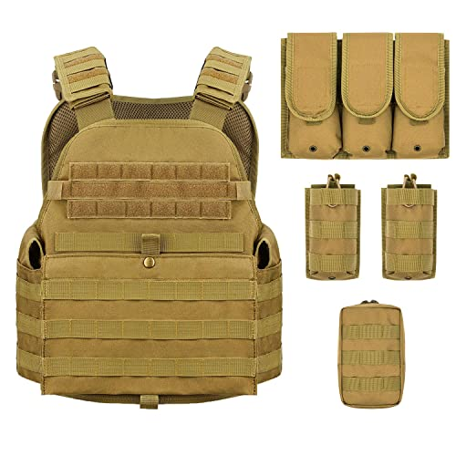 Barbarians MOLLE Tactical Cheap Plate Carrier for Big Guys