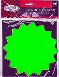 20x Diamond Plus Neon Stars, 150mm (fluorescent card). Free UK Delivery