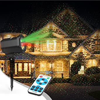 laser christmas lights innoolight outdoor christmas laser lights show red and green starry christmas