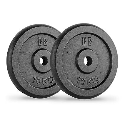 CapitalSports Capital Sports IPB 10 Pareja de Discos para mancuerna Gimnasio (par 30mm 10 kg