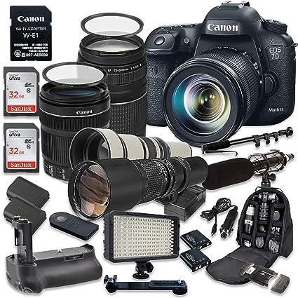 Amazon com : Canon EOS 7D Mark II 20 2MP CMOS Digital SLR