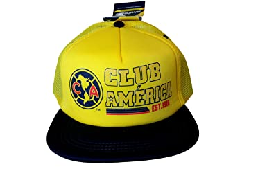 008233446f4e88 Club America Flat Brim Hat Cap Trucker Style C5A03 (Navy Blue) at Amazon  Men's Clothing store: