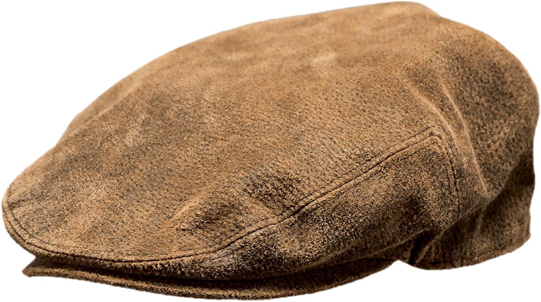 Flat Cap Outback Leather Ascot Cap