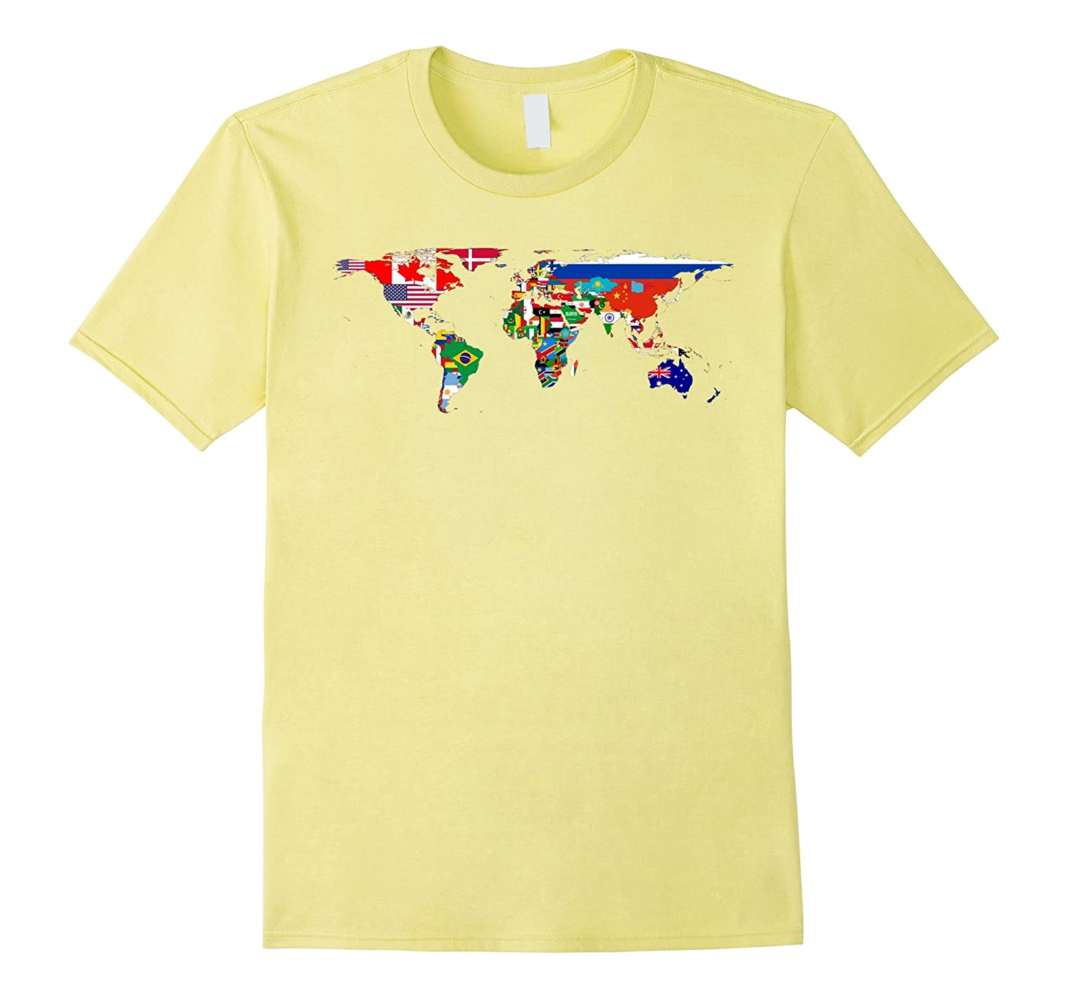 World Map Of Flags Shirttd