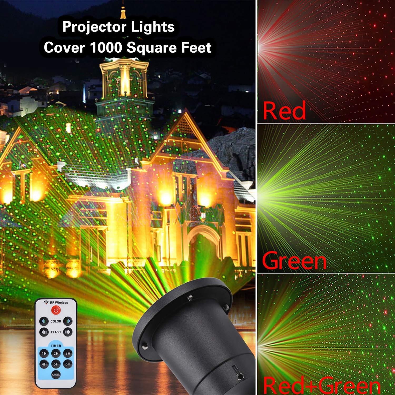Projector Light, Outgeek Party Light Christmas Garden Spotlight Landscape LED Lighting DJ Disco Light for Dance Show Wedding Birthday with Remote
