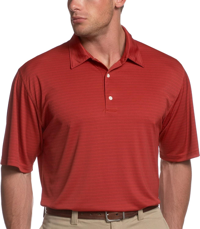 Greg Norman 2-Below Tonal Jacquard Stripe Polo Shirt