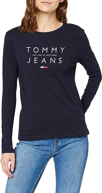 Tommy Hilfiger Tjw Essential Logo Longsleeve Camisa para Mujer: Amazon.es: Ropa y accesorios