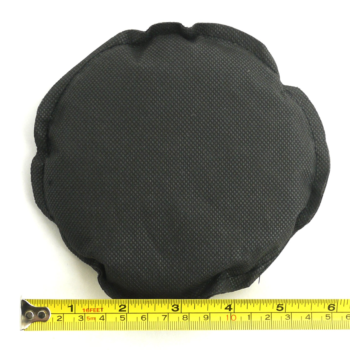 4pc ThinkBamboo Round Replacement Carbon Filters for Compost Bins Black