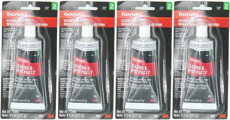 3M Bondo 907 Glazing and Spot Putty - 4.5 oz, 4 Pack