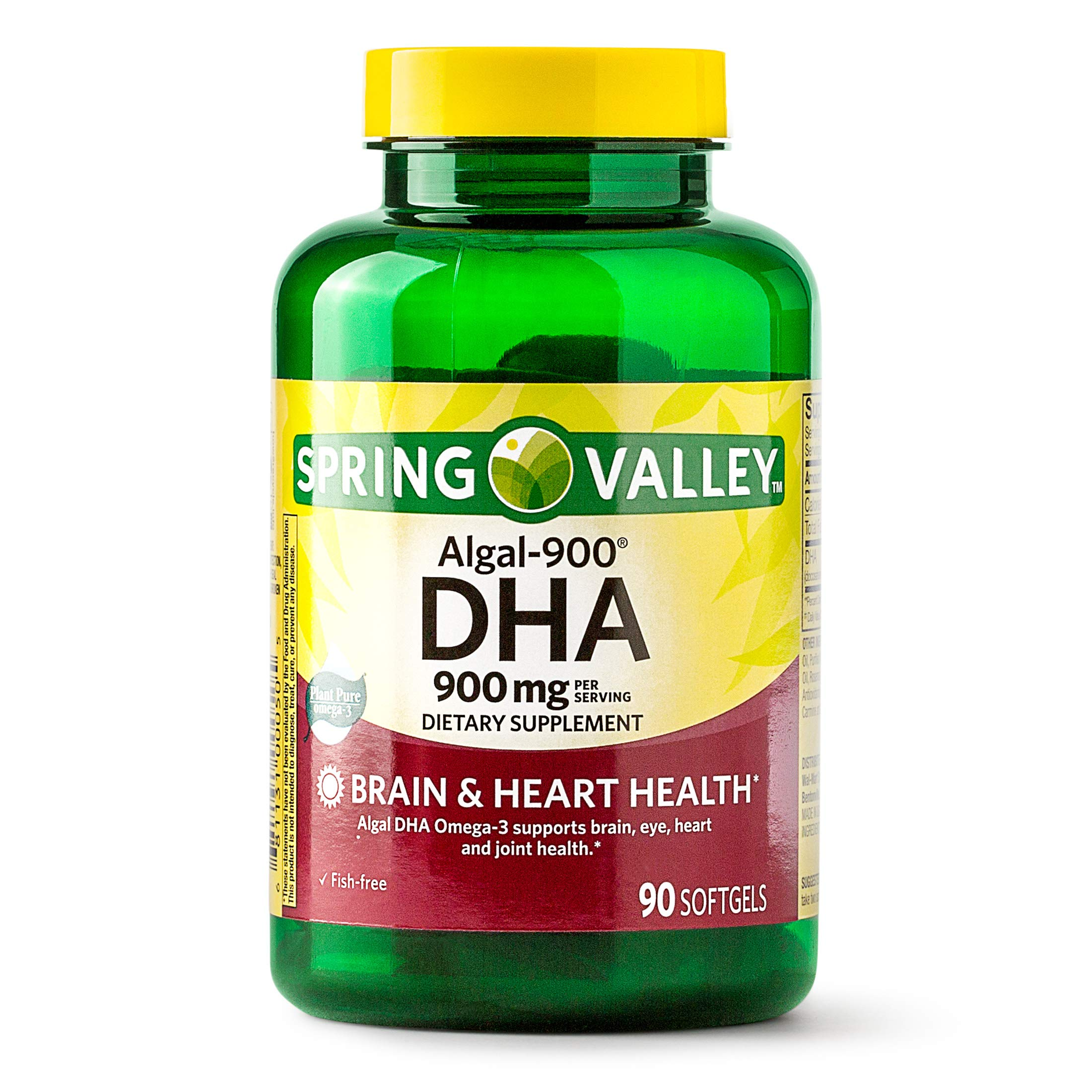 Spring Valley Algal-900 DHA Softgels, 900 mg, 90 Ct by Spring Valley