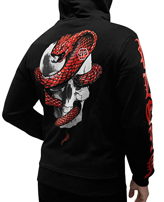 official photos 824e4 7f945 PHILIPP PLEIN - Moment - Sweatshirt Hoodie with Skull And ...