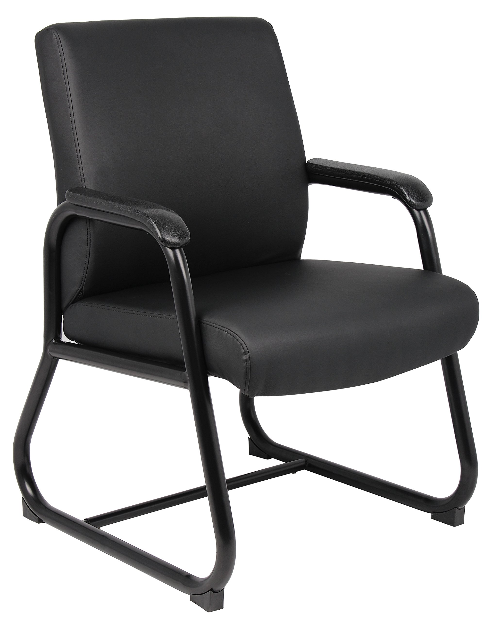 Boss Office Products B709 Heavy Duty Caressoft Guest Chair in Black by Boss Office Products (Image #1)