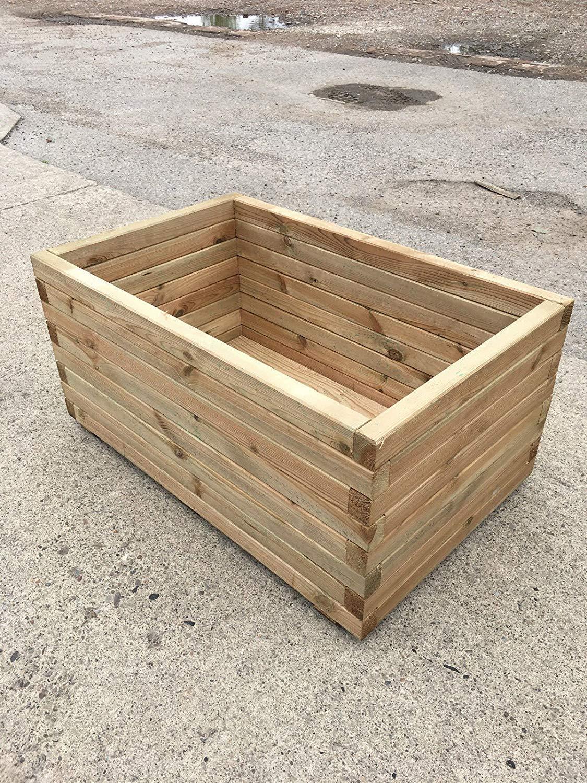 Maceta extra grande de Simply Wood de alta calidad de madera ...