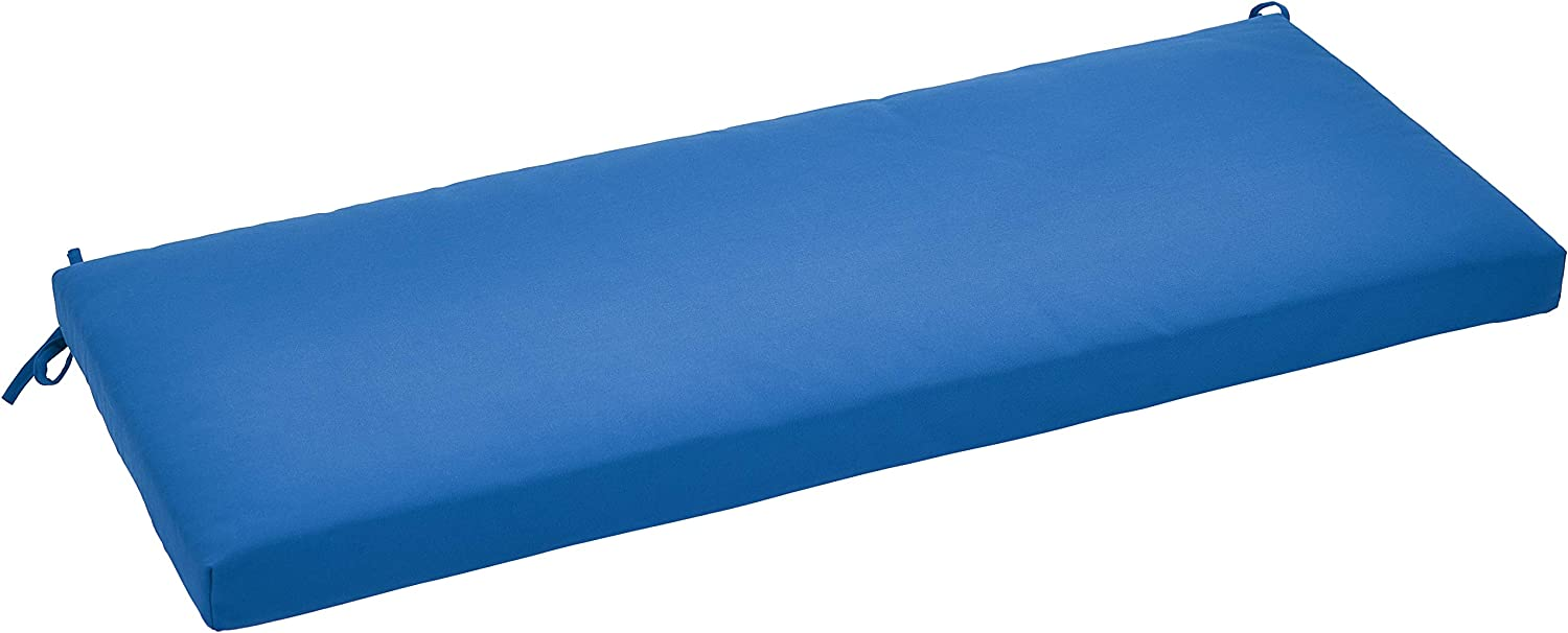 AmazonBasics Outdoor Patio Bench Cushion - 45 x 18 x 2.5 Inches, Blue