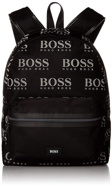 22f1d2092de Amazon.com: BOSS Green Men's Iconic Nylon Logo Backpack, black One Size:  Clothing
