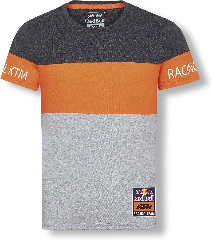 Red Bull KTM Letra Block T-Camisa, Gris Niños Camisa Manga Larga, KTM Factory Racing Original Ropa & Accesorios