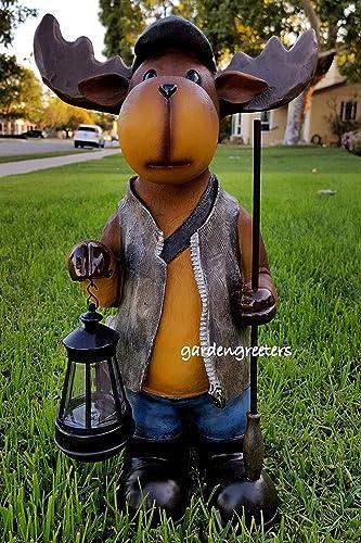 gardengreeters Moose Solar Light Statue Moose Solar Figurine