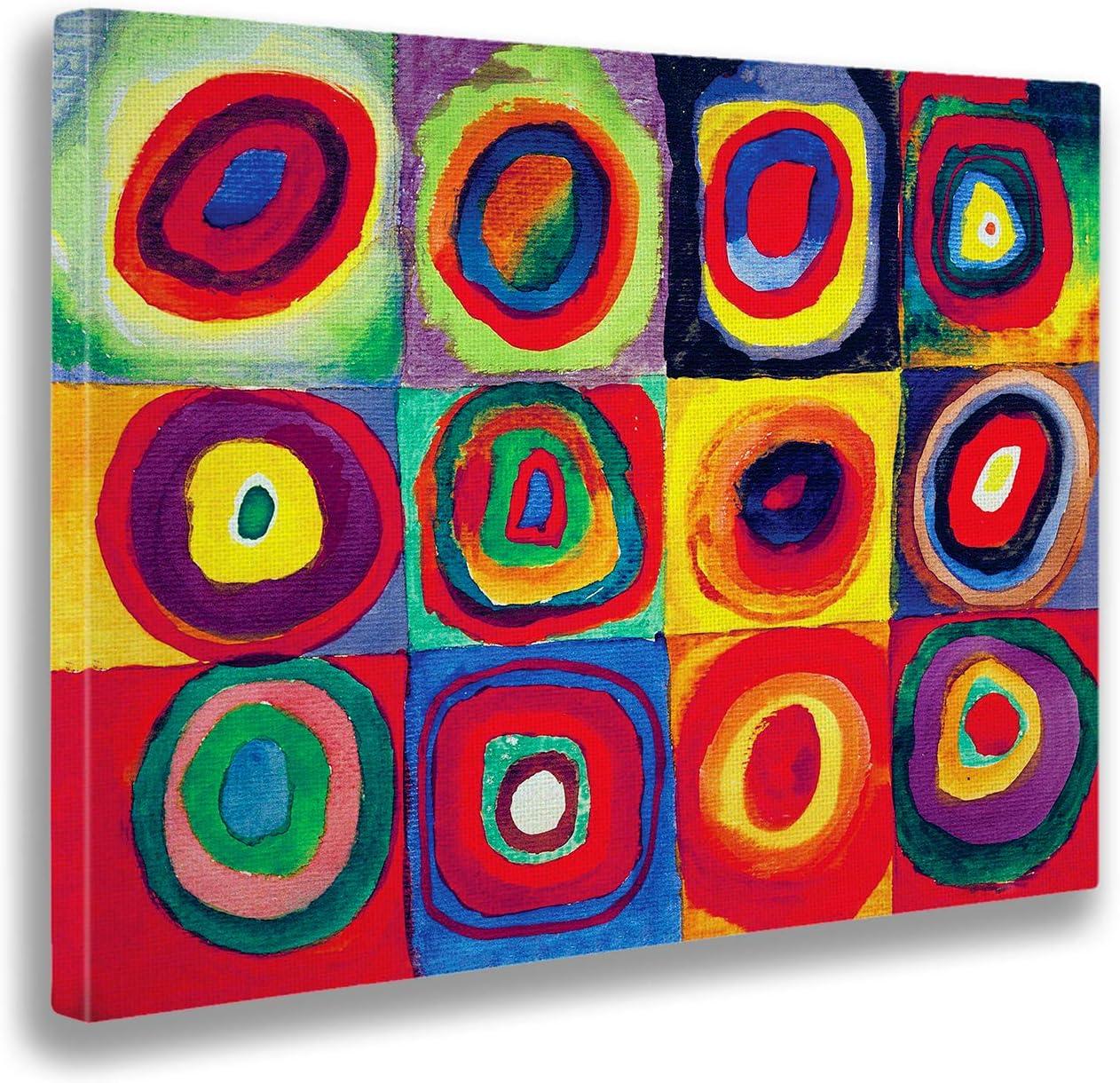 Giallobus - Cuadro - Impresion en Lienzo Kandinsky - Cuadro Abstracto - Estudio de Color- Pinturas Modernas de lienzos - Varios formatos - 140 x 100 CM