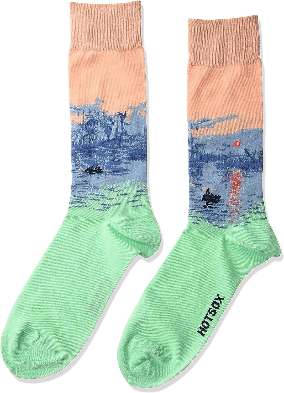 Hot Sox Men's Fashion Pattern Slack Crew Socks
