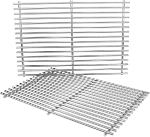 Grisun 17.3 inch 7639 Cooking Grates for Weber Spirit 300 Series, 304 Stainless Steel Grates for Spirit E310, E320, S310 S320, Spirit 700, Weber 900, Genesis Silver B Grill Grate Part 7638 65906
