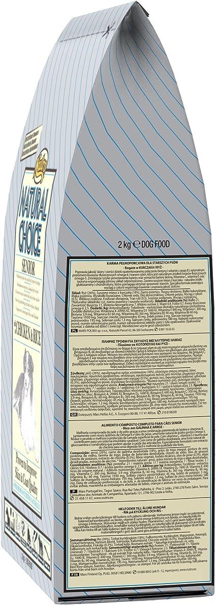 Nutro C-12131 Senior, Comida Perros, pollo y arroz, 2 Kg: Amazon.es: Productos para mascotas