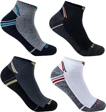 L&K Pack de 6/12 Calcetines de deporte Sneaker Cortos para hombre multicolor 92231