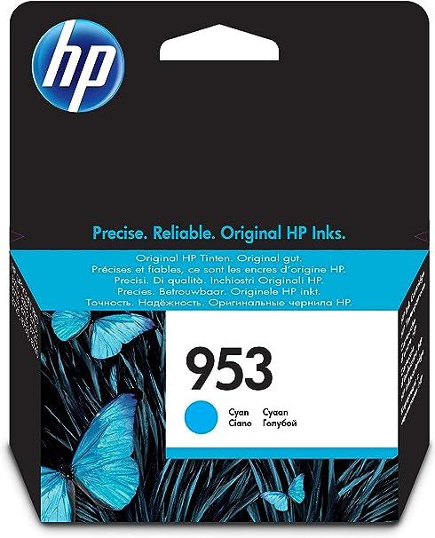 HP F6U12AE 953 Cartucho de Tinta Original, 1 unidad, cian: Hp ...