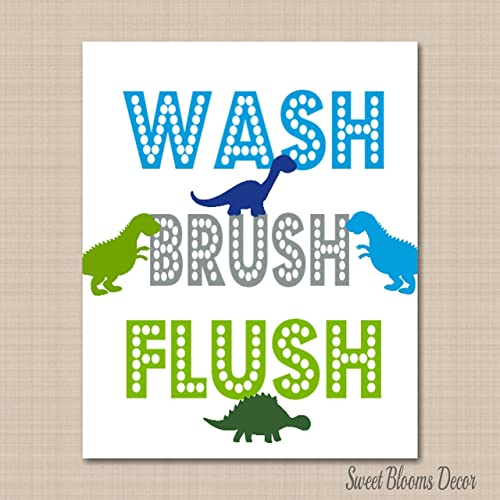 Kids Bathroom Wall Decor Dinosaur Bathroom Wall Artdinosaur Kids On Etsy Wall Art Decals Summer Tree Print Whimsical By