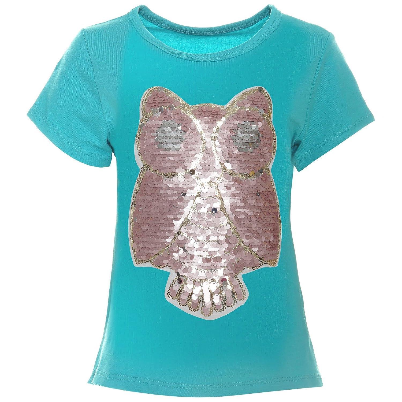 BEZLIT Mädchen T-Shirt Wende-Pailletten Eule 21256
