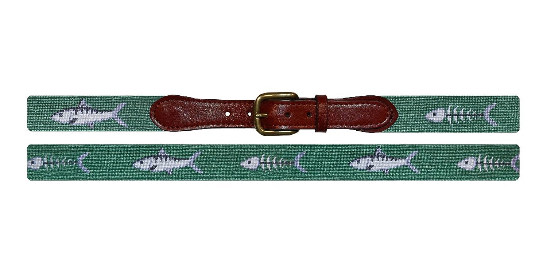 B-206-42 42 Sage Smathers /& Branson Bonefish Needlepoint Belt