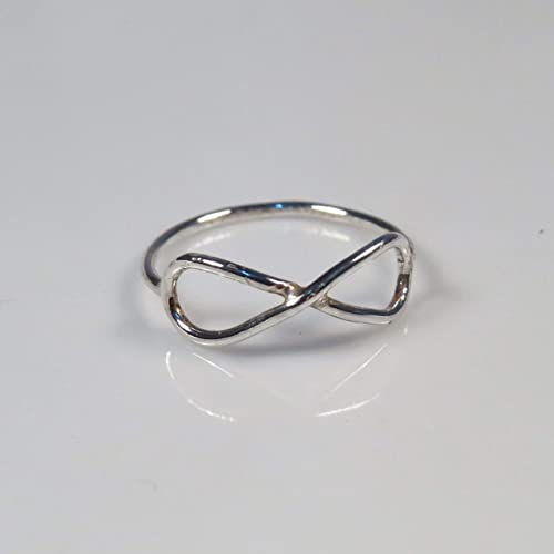 Amazon Com Sterling Silver Infinity Ring For Women Teens And