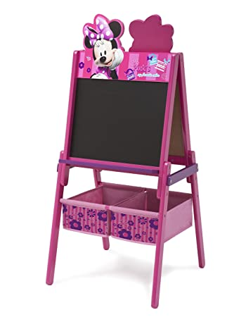 Delta Children Disney Wooden Double Sided Easel With Storage, Disney Minnie  Mouse