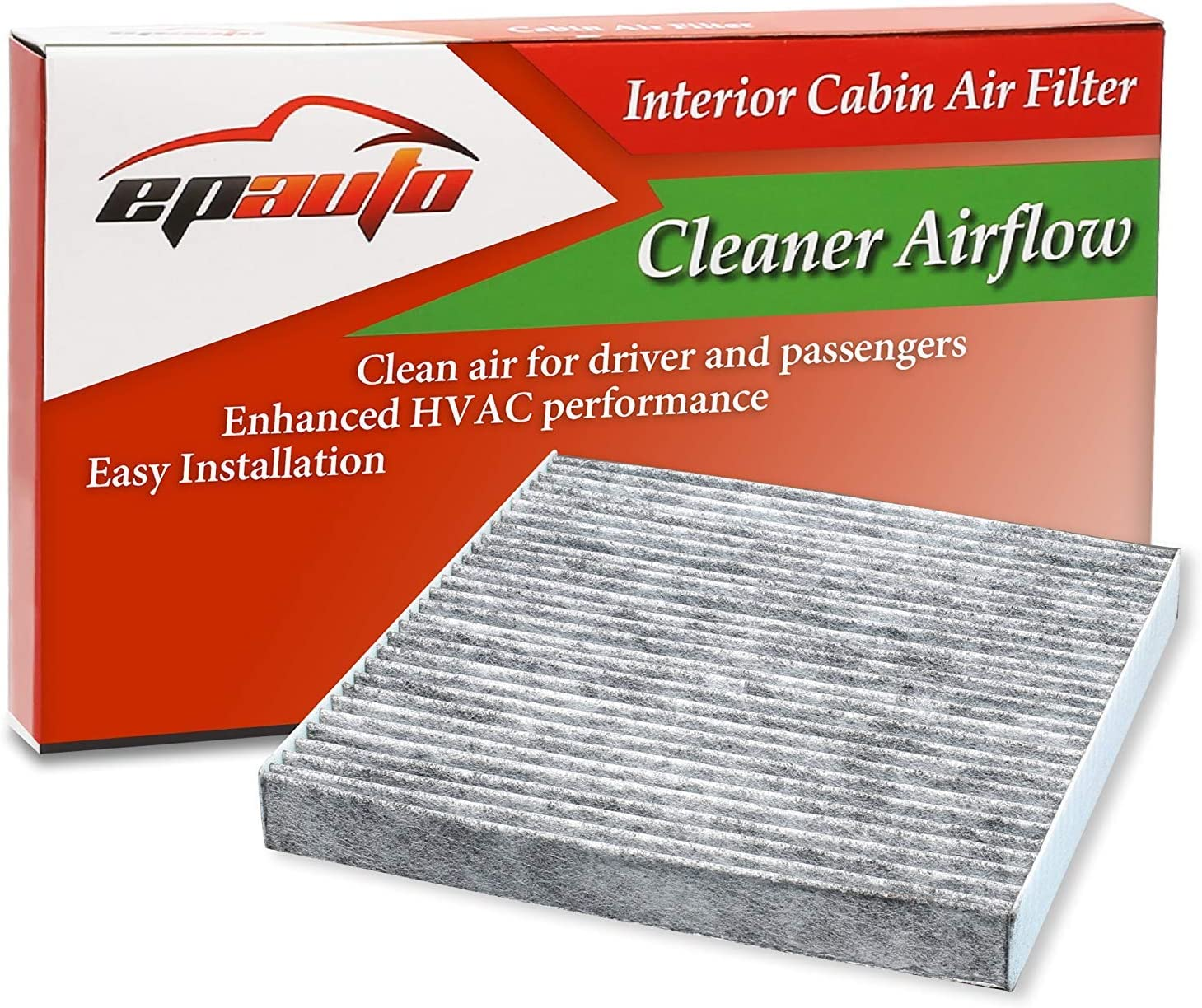 EPAuto CP134 (CF10134) Premium Cabin Air Filter includes Activated Carbon: Automotive