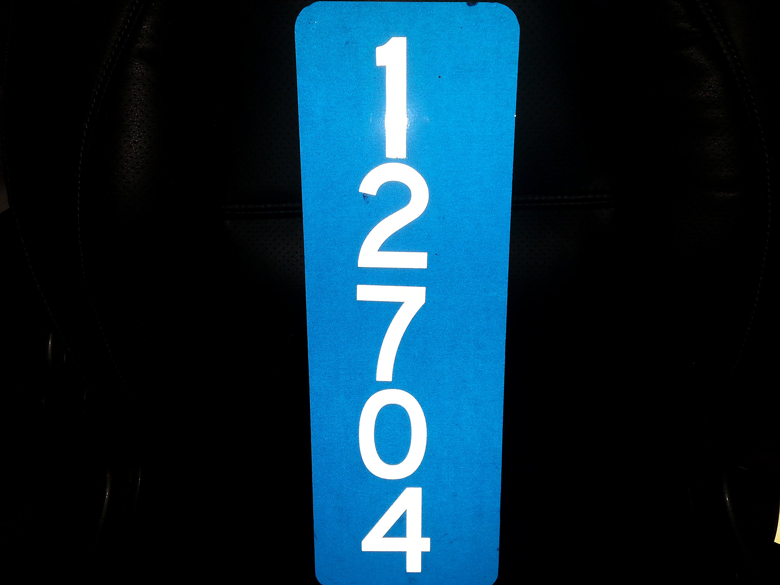 911 Blue Reflective Address w/ 3'' Numbers Mailbox Marker Home Business Vertical Mg2 Signs