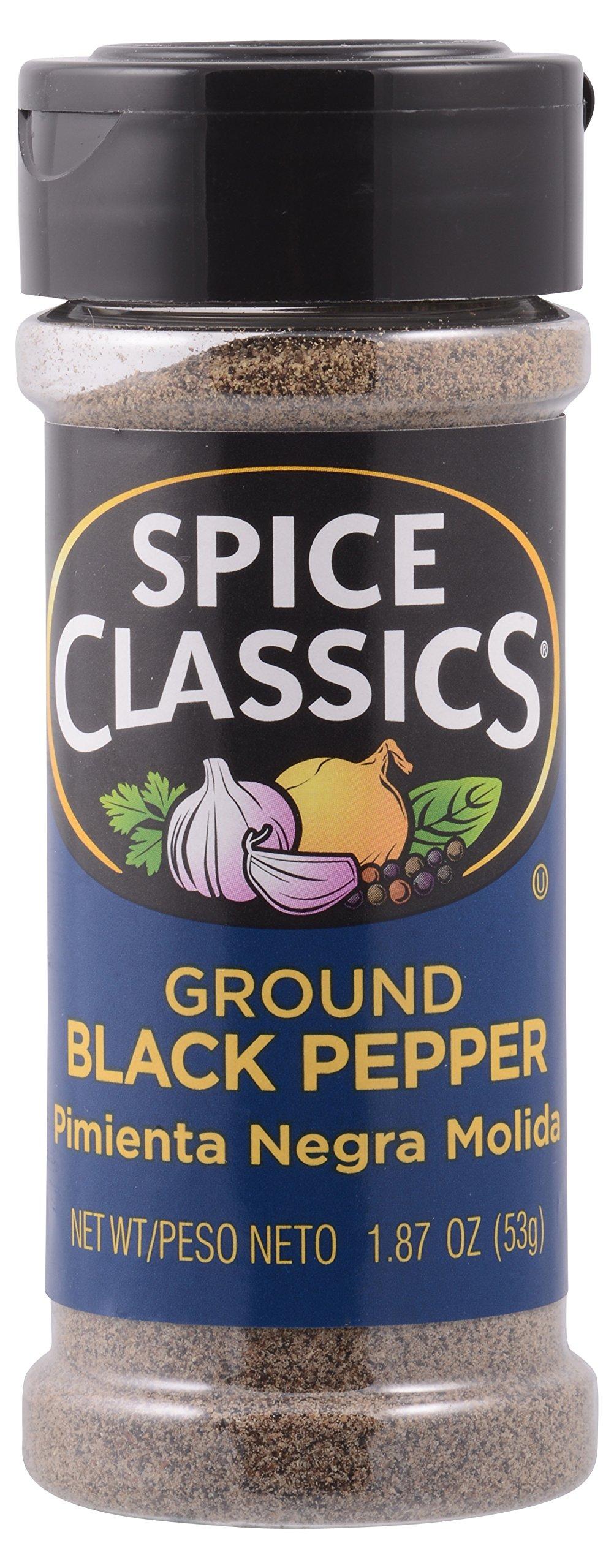 Spice Classics ground black pepper, 1.87-oz., plastic shaker (Pack of 1)