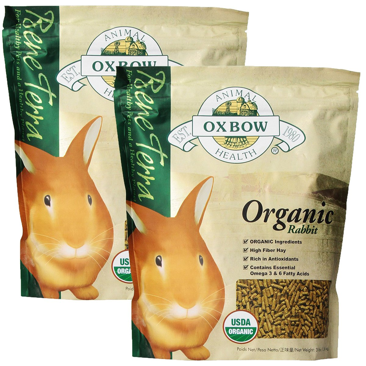 Oxbow Bene Terra Organic Rabbit Food, 6 lb